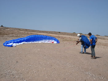 Improving your flyng skills, progression paragliding course