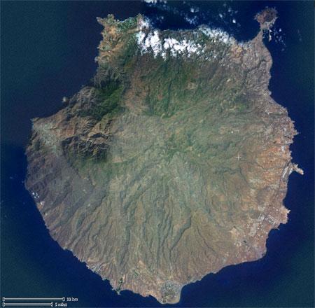 Sayellite image Gran Canaria