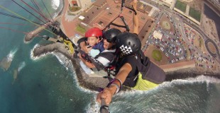 Pictures flying over Gran Canaria on paraglider