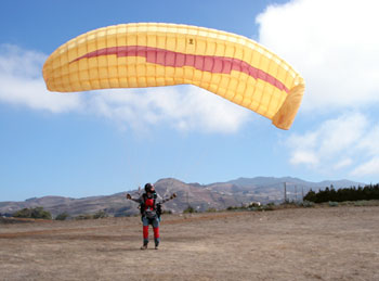 Learning to paraglide in The canary Islands