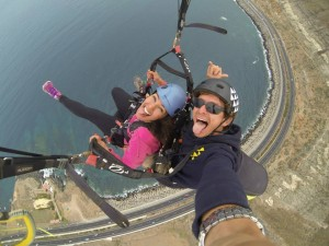 Free flying in the Canary Islands