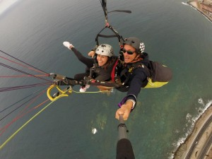 Paraglide over the sea