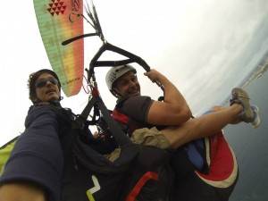 Fly comfortable on a paraglider wing