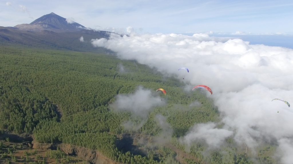 Flying over Izaña take off in Teide Natural Park